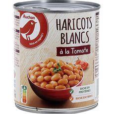 AUCHAN Haricots blancs préparés à la tomate 800g