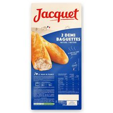 JACQUET Demi-baguettes précuites natures 2 demi-baguettes 50g