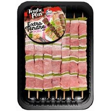 TENDRE & PLUS Brochettes de porc extra tendre 7 brochettes 560g