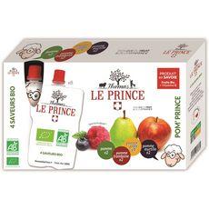 THOMAS LE PRINCE Purées de fruits bio pomme, poire, framboise, myrtille en gourde 8 gourdes 800g