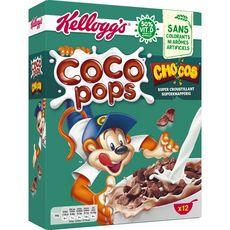 KELLOGG'S Coco Pops Chocos Céréales au chocolat 12 portions 375g