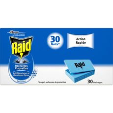 RAID Raid Recharges plaquettes anti-moustiques & moustiques-tigres x30 30 nuits 30 recharges