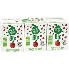 PLEIN FRUIT Plein Fruit Pur jus de pomme bio 6x20cl 6x20cl