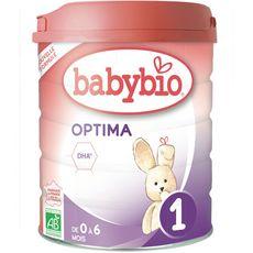 BABYBIO Optima 1 lait 1er âge en poudre dès la naissance à 6 mois 800g