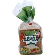 AUCHAN Pain de mie spécial sandwich aux 7 céréales 14 tranches 14 tranches 550g