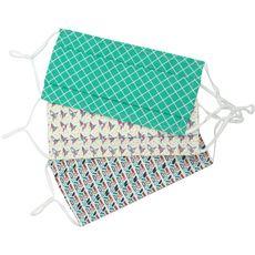 Masques barrières réutilisables anti-projections UNS 1 adultes 3 pièces 3 masques