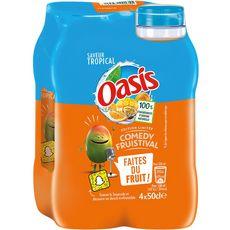 OASIS Boisson aux fruits goût tropical bouteilles 4x50cl