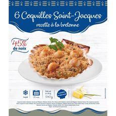 Coquilles Saint-Jacques recette à la Bretonne 6 pièces 540g