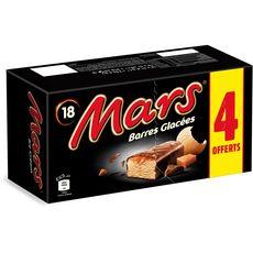 Mars Barre glacée nappée de caramel enrobée de chocolat x14 + 4 offerts