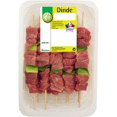 POUCE Pouce Brochettes de dinde avec poivrons x10 -950g 10 pièces 950g