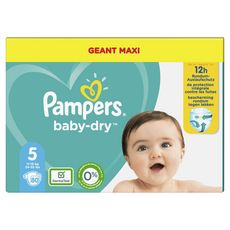 Pampers PAMPERS Baby-dry Couches taille 5 (11-16kg) 12 h de protection