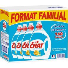 LE CHAT Le Chat Lessive diluée sensitive 160 lavages 4x2l 160 lavages 4x2l