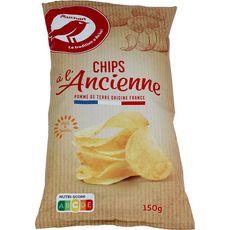 AUCHAN Chips à l'ancienne nature 150g