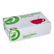 AUCHAN ESSENTIEL Sucre blanc en morceaux 1kg