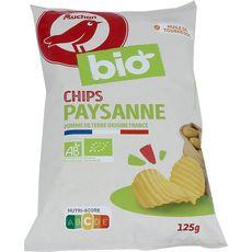 AUCHAN BIO Chips paysanne bio 125g