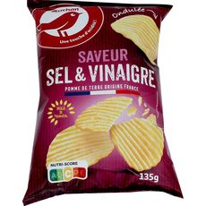 AUCHAN Chips saveur vinaigre 135g