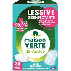 MAISON VERTE Lessive en tablettes désinfectantes 20 lavages 20 tablettes