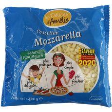 DELICES D'AMELIE Cossettes mozzarella râpé pour pizza 400g