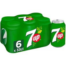 7UP Boisson gazeuse aux extraits de citron et citron vert boîtes 6x33cl