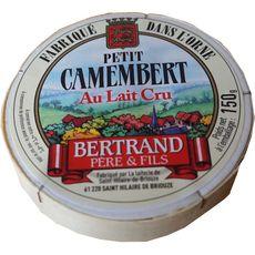 BERTRAND PERE ET FILS Petit camembert au lait cru 150g
