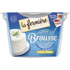LA FERMIERE Brousse au lait entier moulée à la louche doux et frais 400g