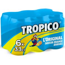 TROPICO Tropico Boisson aux fruits l'original saveur orange ananas boîte 6x33cl 6x33cl