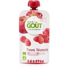 Good Goût GOOD GOUT Good Goût Gourde dessert pomme et framboise bio dès 4 mois 120g
