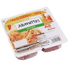 AUCHAN Auchan Allumettes nature 2x150g dont 50g offerts dont 50g offerts 2x150g
