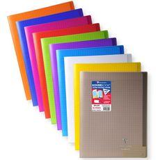 CLAIREFONTAINE Clairefontaine Koverbook cahier piqûre 48 pages 24x32cm coloris assortis 1 pièce