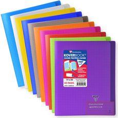 CLAIREFONTAINE Clairefontaine Koverbook Cahier piqure 48 pages 17x22cm coloris assortis 1 pièce