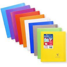 CLAIREFONTAINE Clairefontaine Koverbook Cahier piqûre 48 pages 17x22cm coloris assortis 1 pièce