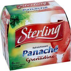 STERLING Panaché aromatisé grenadine moins de 0,5% d'alcool boites 6x25cl