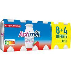 ACTIMEL Actimel Yaourt à boire à la fraise 12x100g 12x100g