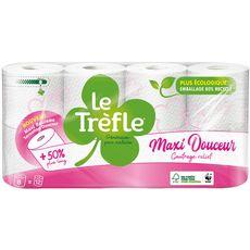 LE TREFLE Papier toilette blanc compact maxi douceur 8 rouleaux