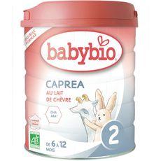 BABYBIO Caprea 2 lait de chèvre 2ème âge en poudre dès 6 mois 800g