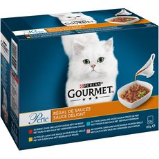GOURMET Perle sachets repas régal de sauces pour chat 12x85g