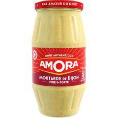AMORA Moutarde de Dijon fine et forte fabriqué en France 440g