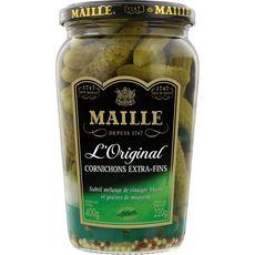 MAILLE Maille Cornichons extra fins cueillis main sélection grand croquant 220g 220g