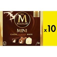 Magnum MAGNUM Mini-bâtonnet glacé classique aux amandes et blanc