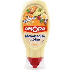 AMORA Amora Mayonnaise de Dijon œufs de plein air en squeeze top down 395g 395g