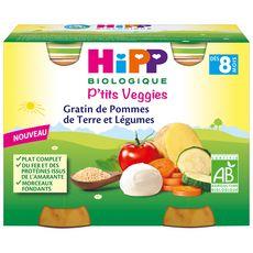 HiPP HIPP Pots ptit veggies gratin pomme de terre légumes bio dès 8 mois
