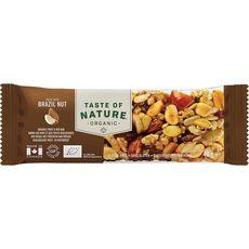 TASTE OF NATURE Barre aux noix du Brésil et fruits bio 40g