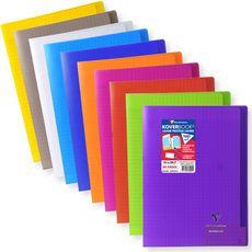 CLAIREFONTAINE Clairefontaine Koverbook Cahier piqûre 48 pages 21x29,7cm coloris assorti 1 pièce
