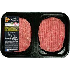 Steak haché de veau fermier Label Rouge 15% mg  filière responsable x2 - 25 2 pièces 250g