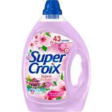 SUPER CROIX Lessive liquide Japon fleur de cerisier & thé vert 43 lavages 2,15l