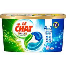 LE CHAT Discs lessive capsules 4en1 expert 25 lavages 25 capsules