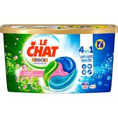 Le Chat Discs Lessive en capsules rosée du matin 25 lavages