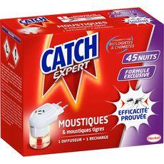 CATCH Diffuseur électrique avec recharge pour moustiques 45 nuits 1 pièce