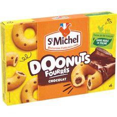 ST MICHEL St Michel Doonuts Gâteaux fourrés au chocolat 6 sachets individuels 180g 6 sachets 180g