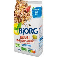 BJORG Muesli de céréales bio sans sucres ajoutés 750g